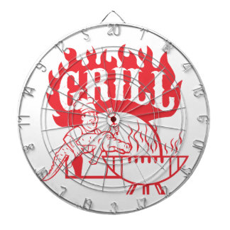 BBQ Chef Carry Gator Grill Retro Dartboard