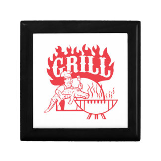 BBQ Chef Carry Gator Grill Retro Gift Box