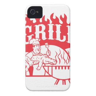BBQ Chef Carry Gator Grill Retro iPhone 4 Case-Mate Case
