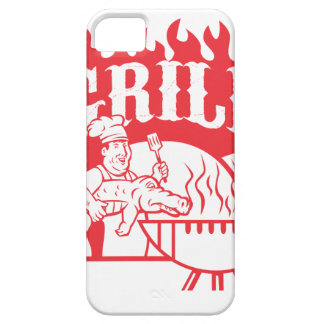 BBQ Chef Carry Gator Grill Retro iPhone 5 Case