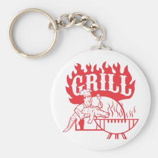 BBQ Chef Carry Gator Grill Retro Keychain