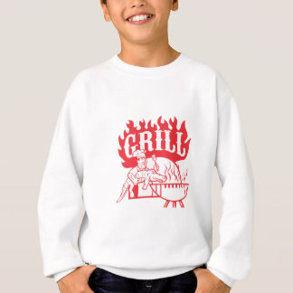 BBQ Chef Carry Gator Grill Retro Sweatshirt