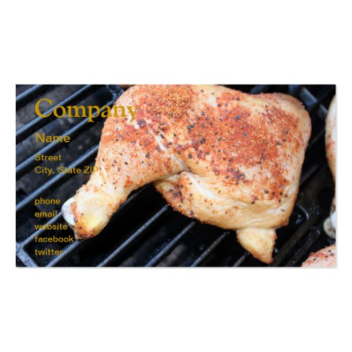 BBQ Chicken Business Card Templates
