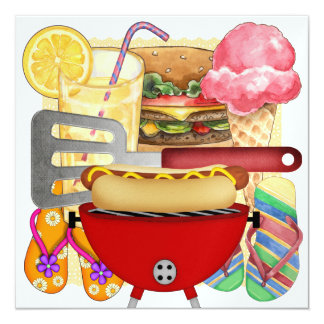 BBQ Cook Out - 4th of July Card