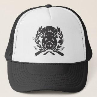 BBQ Crest - black print Trucker Hat