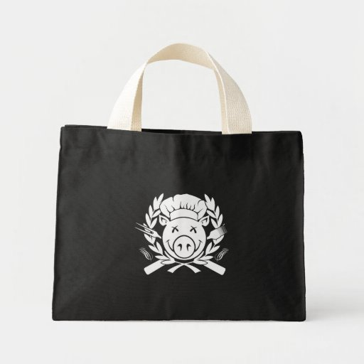 BBQ Crest - white print Tote Bags