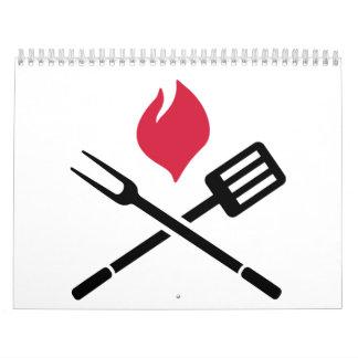 BBQ cutlery fire Calendar