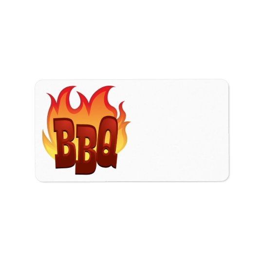 bbq flame text design