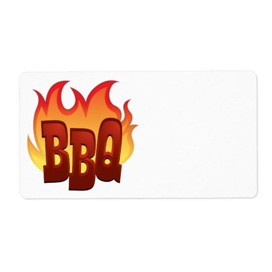 bbq flame text design