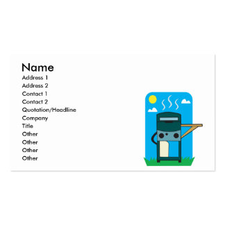 bbq gas grill business card