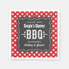 BBQ Gingham Plaid Napkins   Red and Charcoal Black