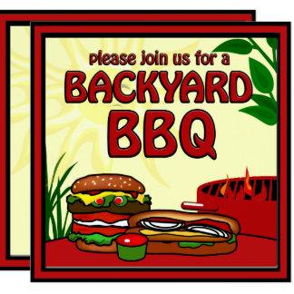 BBQ Grill Picnic Backyard Invitation