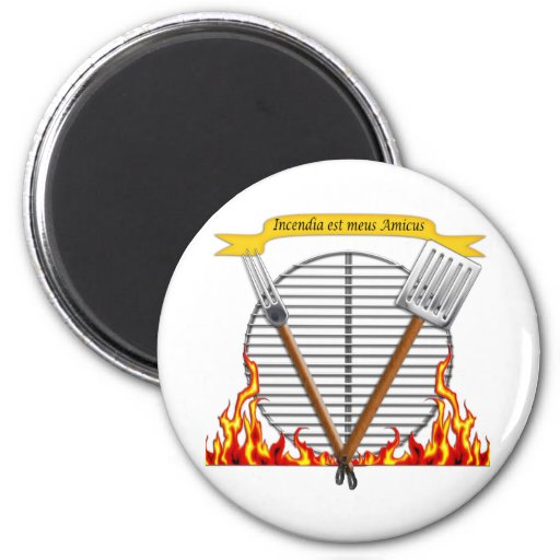 BBQ Grill Royal Crest Refrigerator Magnets
