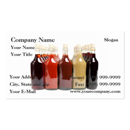 BBQ hot sauces Business Card Template