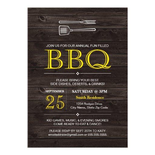 BBQ! Invitation