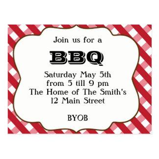 BBQ Invitation Postcard