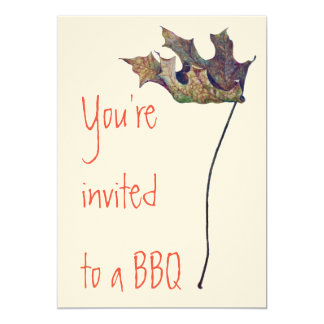 BBQ Invitations on Felt Ecru paper with envelope
