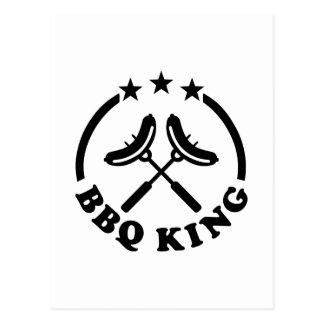 BBQ King barbecue Postcard