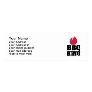 BBQ King Business Card Template