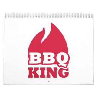 BBQ King flame fire Wall Calendar