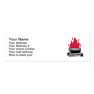 BBQ King red flame Business Card Template