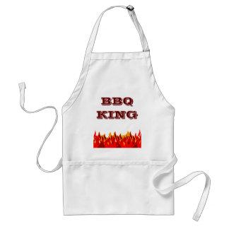 BBQ King Red Flames Custom Slogan Standard Apron