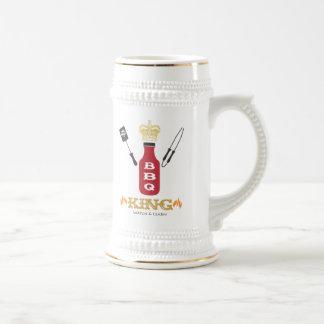 BBQ King Stein 18 Oz Beer Stein