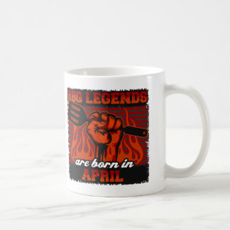 BBQ Legends are Born in April Coffee Mug