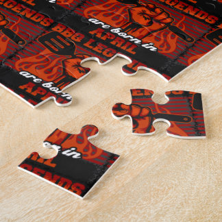 BBQ Legends are Born in April Jigsaw Puzzle