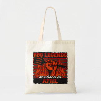 BBQ Legends are Born in April Tote Bag