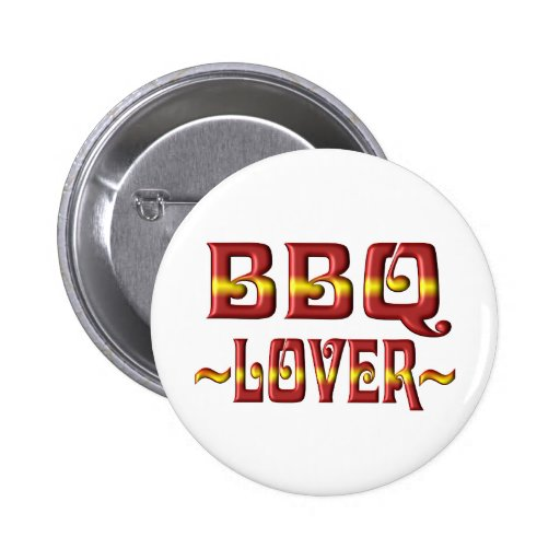 BBQ LOVER PINBACK BUTTON