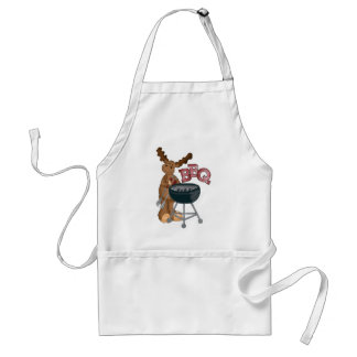bbq Moose add words vendors apron