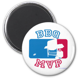 BBQ  MVP letter style 2 Inch Round Magnet