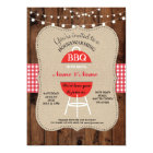 BBQ New Home Sweet HouseWarming Rustic Wood Invite