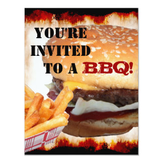 "BBQ Party! Invitation 4.25"" X 5.5"" Invitation Card"