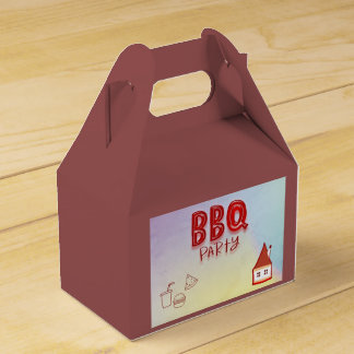 BBQ Party Wedding Favor Box