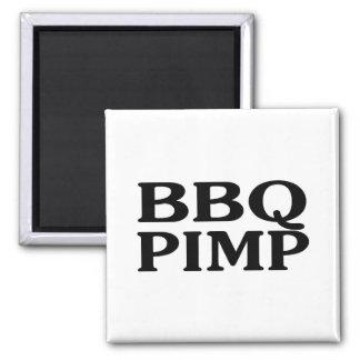 BBQ Pimp Square Magnet