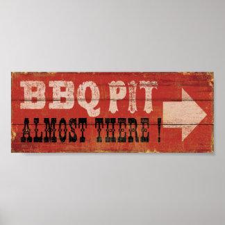 BBQ Pit - 20x8 Poster