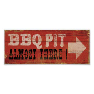 BBQ Pit Poster