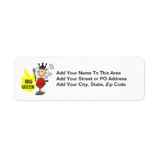BBQ Queen Return Address Label