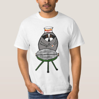 BBQ Raccoon on t-shirt