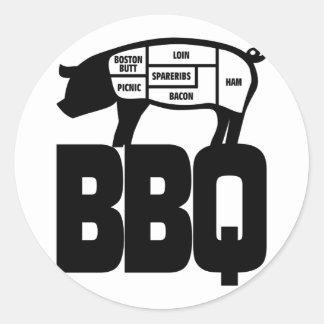 BBQ ROUND STICKER