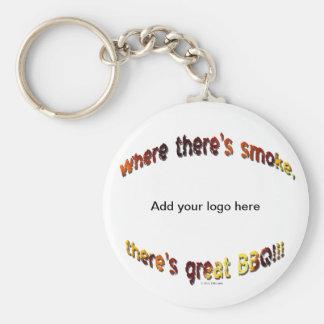 BBQ Smoke Keychain