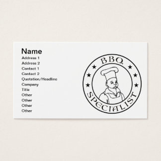 BBQ Specialist Business Card