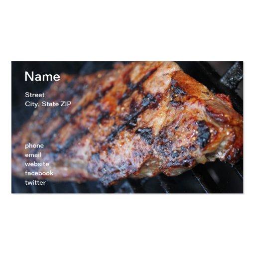 BBQ Steak Business Card Template