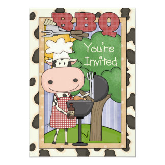 BBQ Steer Invitation