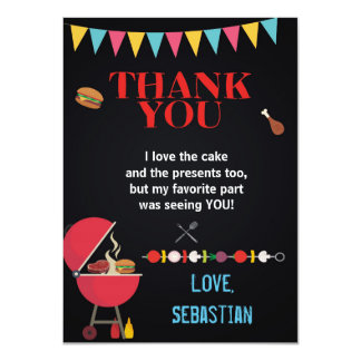 BBQ THANK YOU CARD