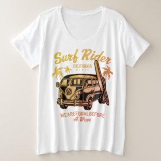 BBW plus size t.shirt-Surf Rider Design Plus Size T-Shirt