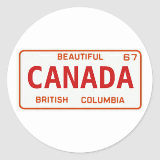 BC67custom Classic Round Sticker