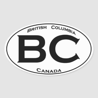 BC (British Columbia) Oval Logo Oval Sticker